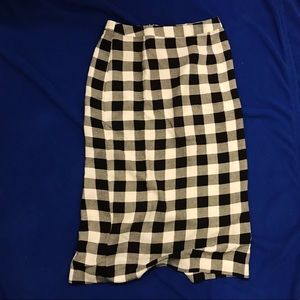Who What Wear Gingham Pencil Skirt